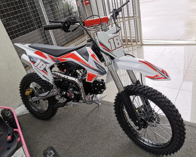 125cc Pro18 Bigwheel Dirt Pit Bike Motorbike Red