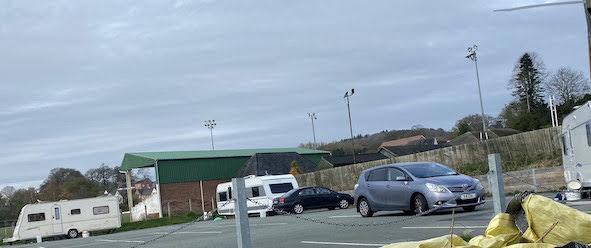 Caravans appear on 'closed' car park