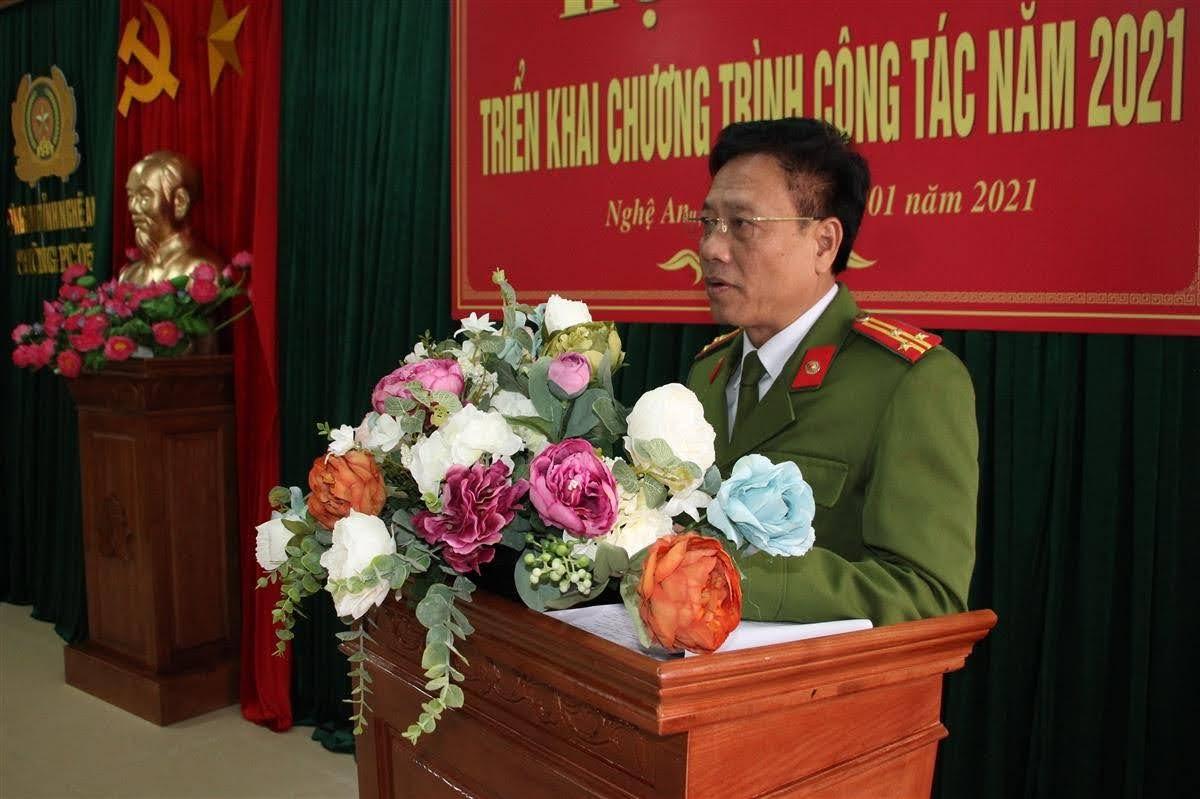 Thượng tá Trần Phúc Thịnh phát động phong trào thi đua