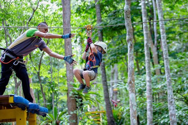 Have fun with kids in Ao Nang Fiore Zipline Adventure Park