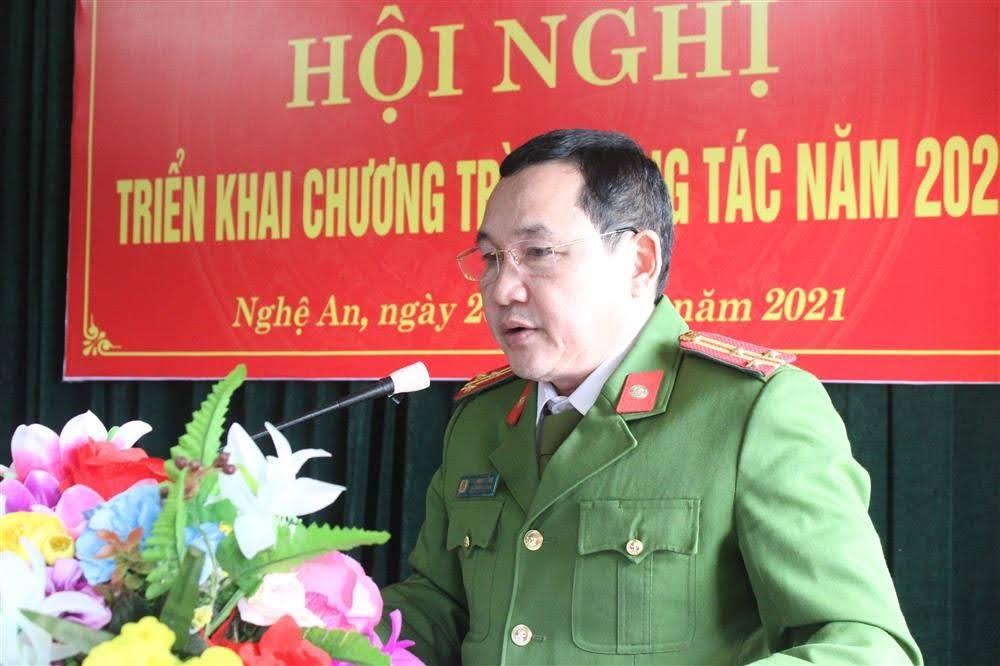 Thượng tá Ngô Minh Tằng, Phó trưởng Phòng Cảnh sát Cơ động đánh giá cao những kết quả mà 3 tổ chức đoàn thể đạt được trong năm qua