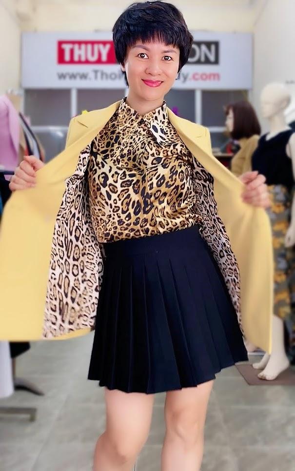 Áo vest nữ mix đồ áo sơ mi và chân váy xòe V730 thời trang thủy hà nội
