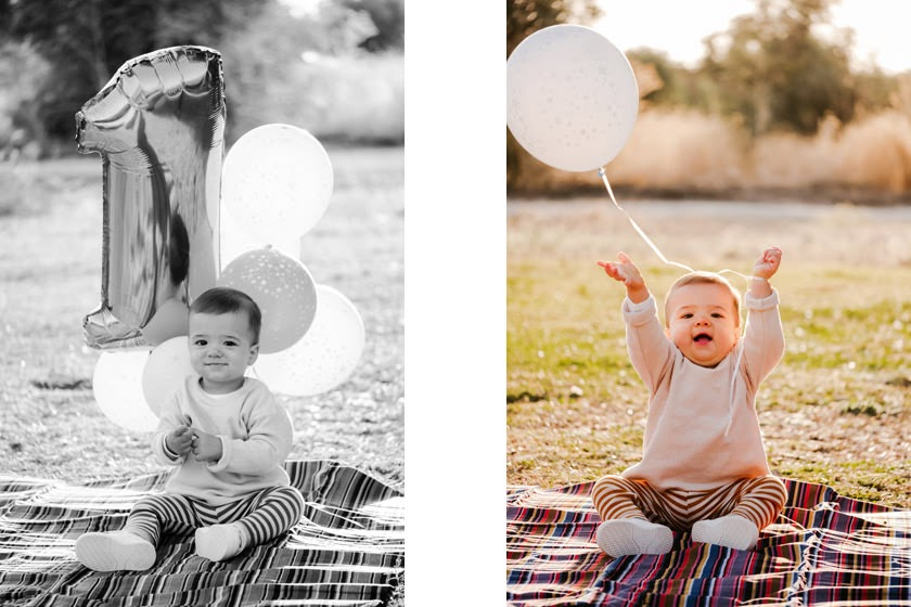 Sesión de fotos de primer cumpleaños
