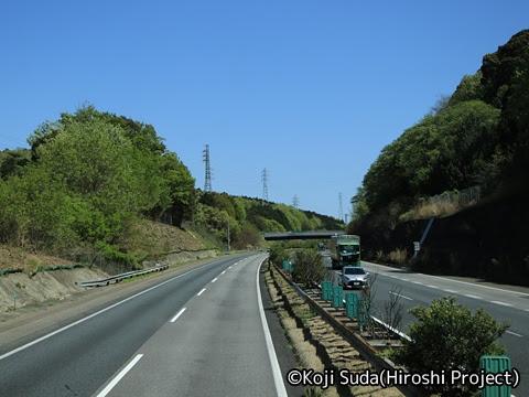 JRバス関東「グラン昼特急8号」 ・・12 2階 最前席からの眺望_11