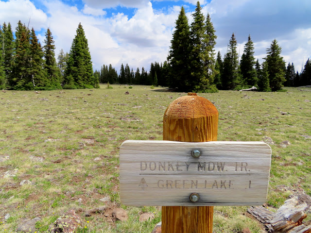 Donkey Meadows Trail sign