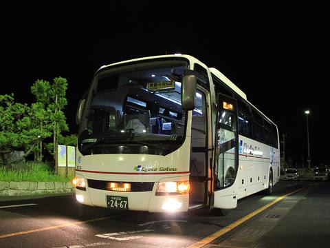 京都交通「舞鶴~なんば線」 2467 舞鶴フェリーターミナルにて