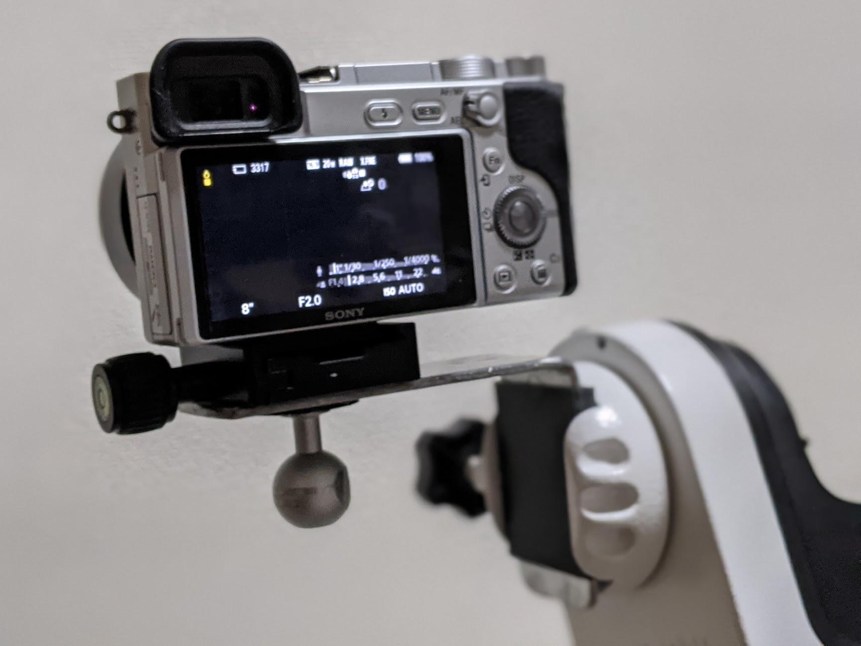 経緯台AZ-GTeにカメラを取り付けるためのクランプを作ってみた
