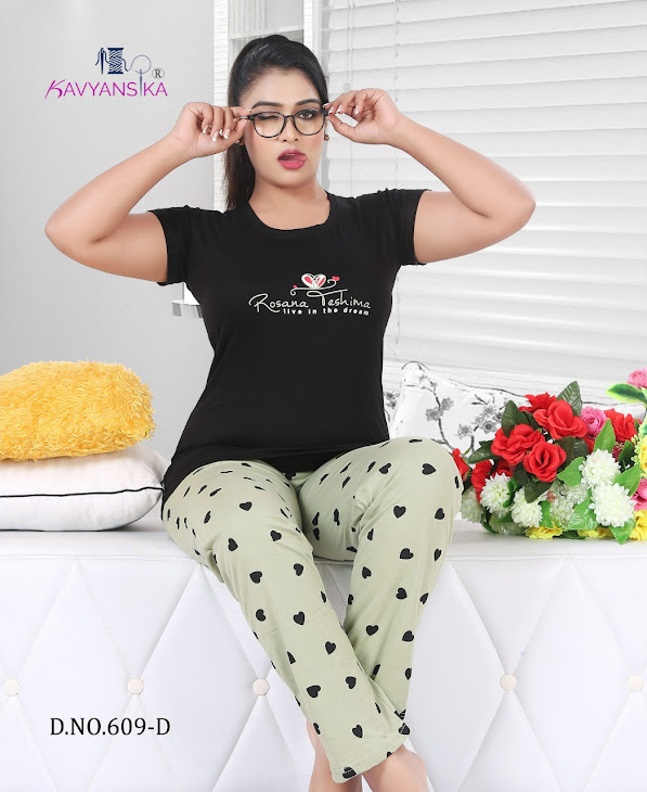 Vol 609 Kavyansika Ladies Night Suits Manufacturer Wholesaler