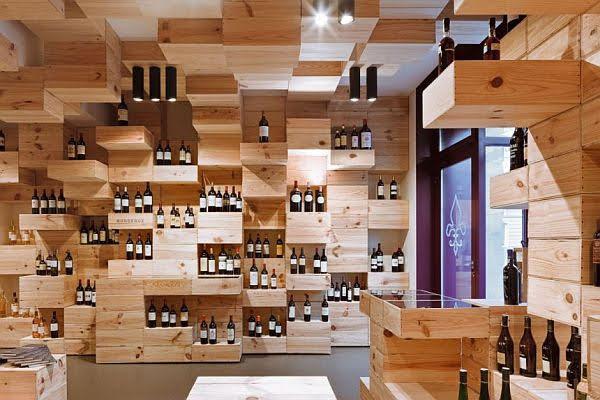 thiết kế cửa hàng rượu