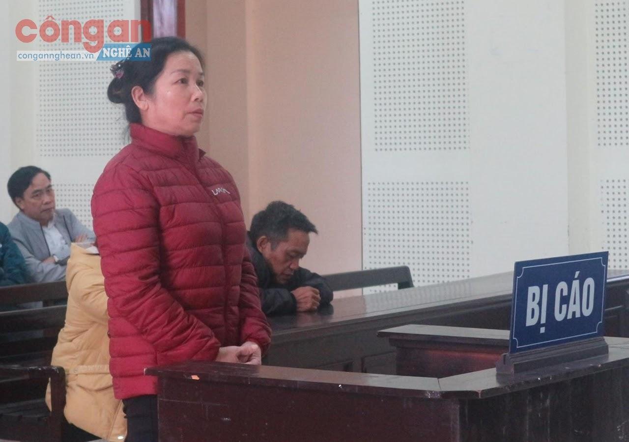 Bị cáo Lô Thị Phương tại phiên tòa