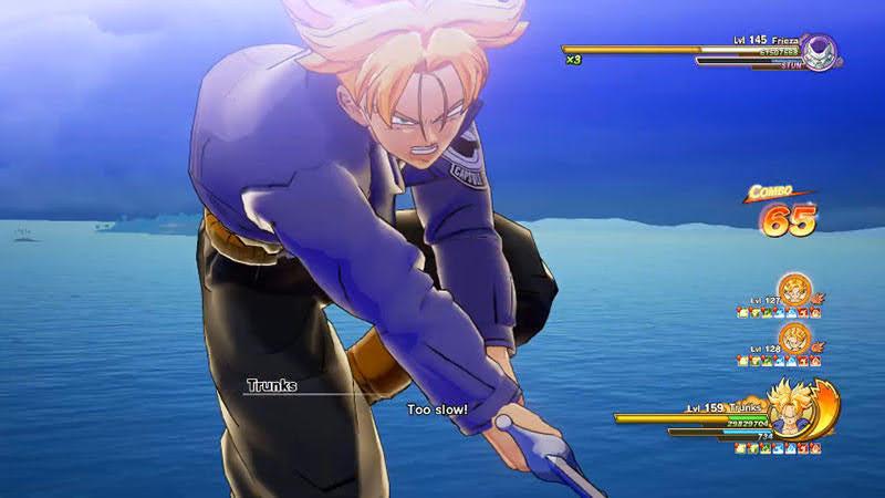 Trunks tung chiêu Melee Super Attack mạnh lợi hại nhất của anh