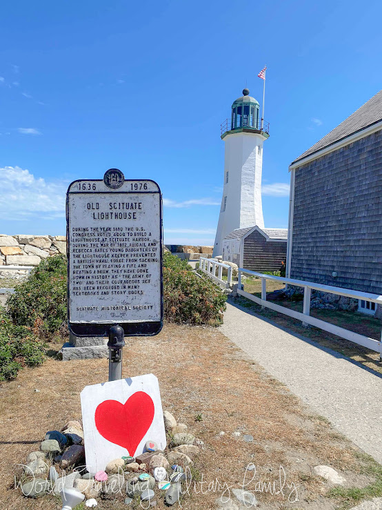 Scituate Lighthouse heart sign