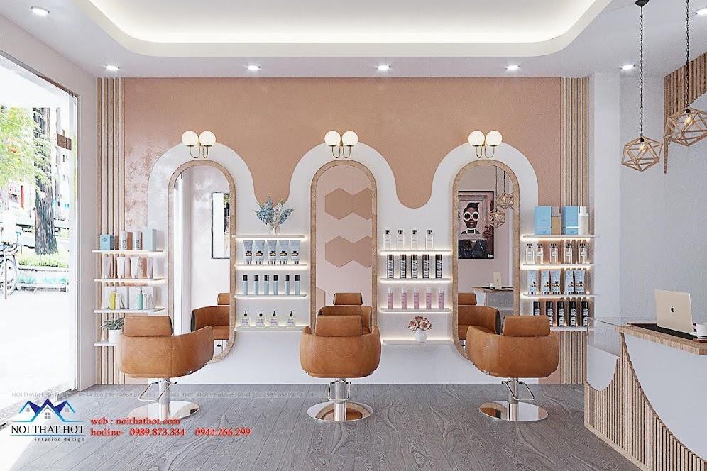 thiết kế cửa hàng cắt tóc