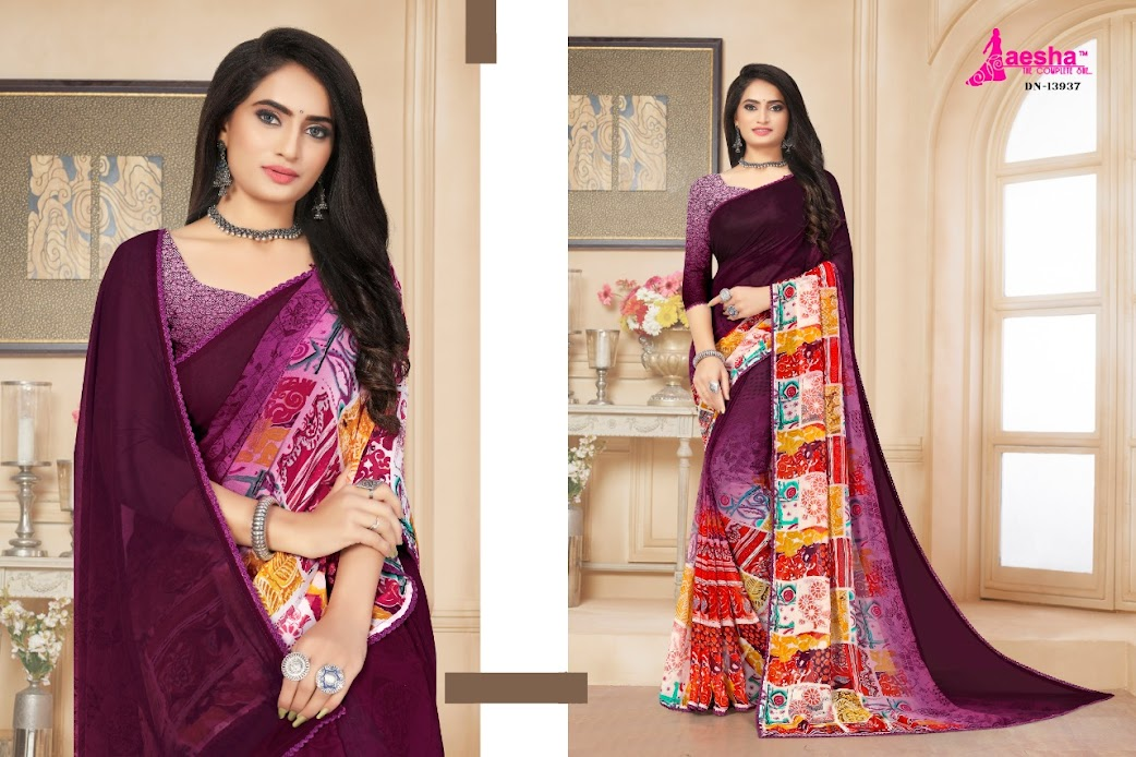 Buy Aesha Aria Latest Sarees Catalog Online Wholesaler Lowes