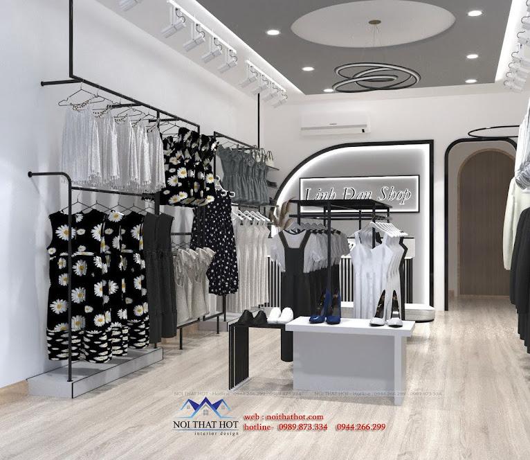 thiết kế shop thời trang 30m2