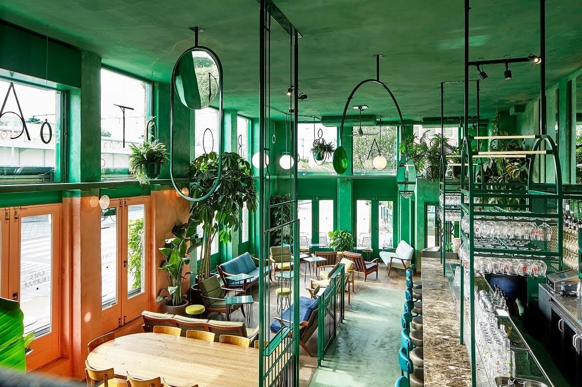 thiết kế quán cafe kết hợp bar