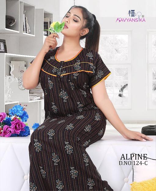 Kavyansika Alpine Vol 124 Branded Night Gowns Catalog Lowest Price
