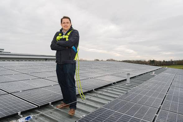 Mike oversees hospital's solar drive