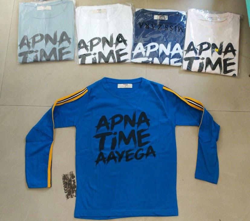 Aapna Time Aayega Ksp Girls Tshirt Manufacturer Wholesaler