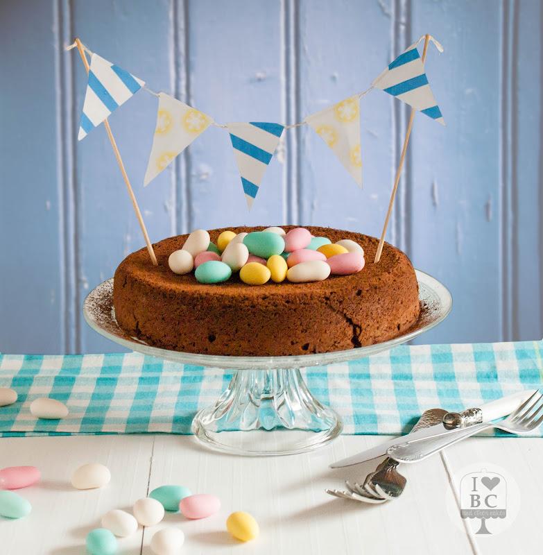 Tarta de chocolate y almendra