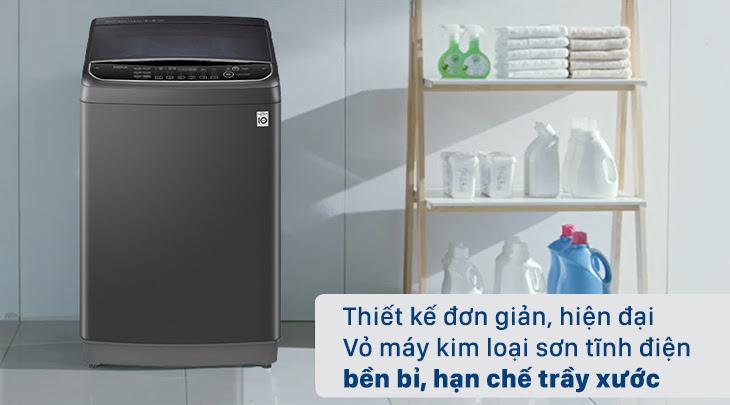 máy giặt cửa trên LG TH2111SSAB có thiết kế đơn giản, hiện đại