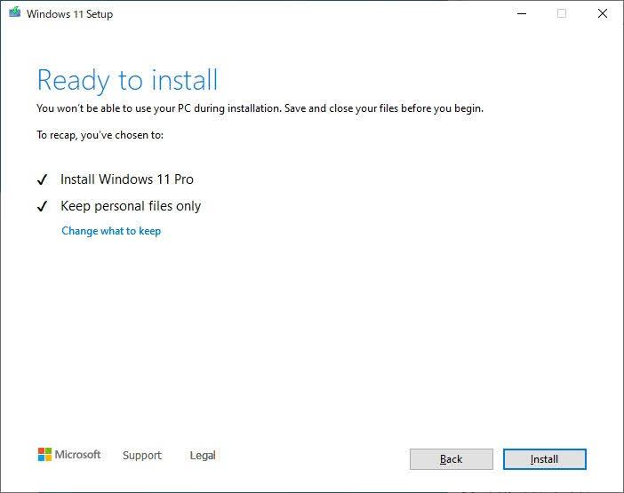 Windows 11 Leaked ISO インストール 引継ぎ選択その2