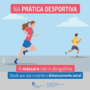 Als je aan het joggen of sporten bent: geen masker nodig. En natuurlijk wél 2 meter afstand houden.