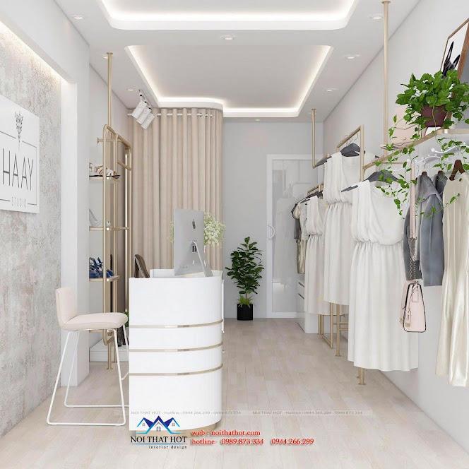 Thiết kế shop quần áo nữ 18m2