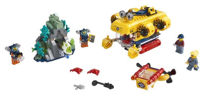 Contenido de Lego® 60264 Océano: Submarino de Exploración