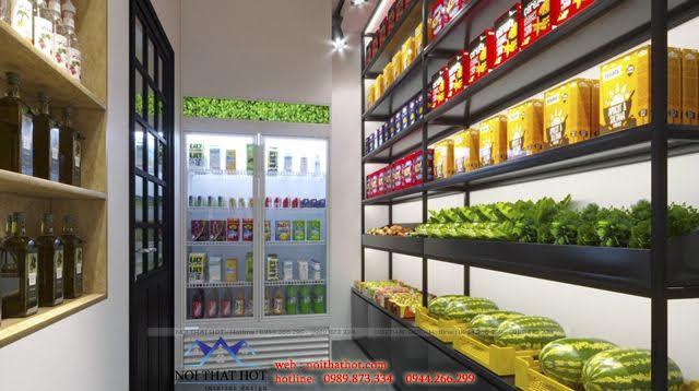 thiết kế nội thất cửa hàng gạo