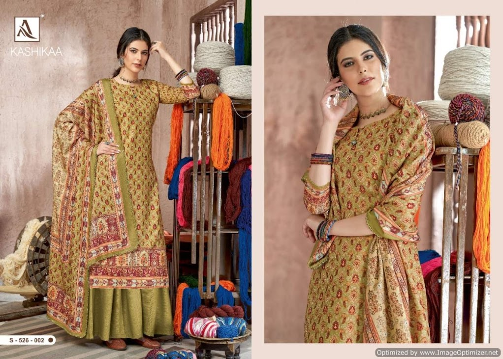 Kashikaa Vol 2 Alok Pashmina Dress Material Manufacturer Wholesaler