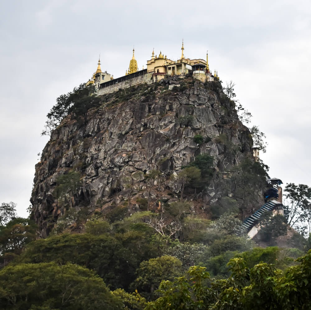 Saying Goodbye to Myanmar at Mount Popa Bagan –