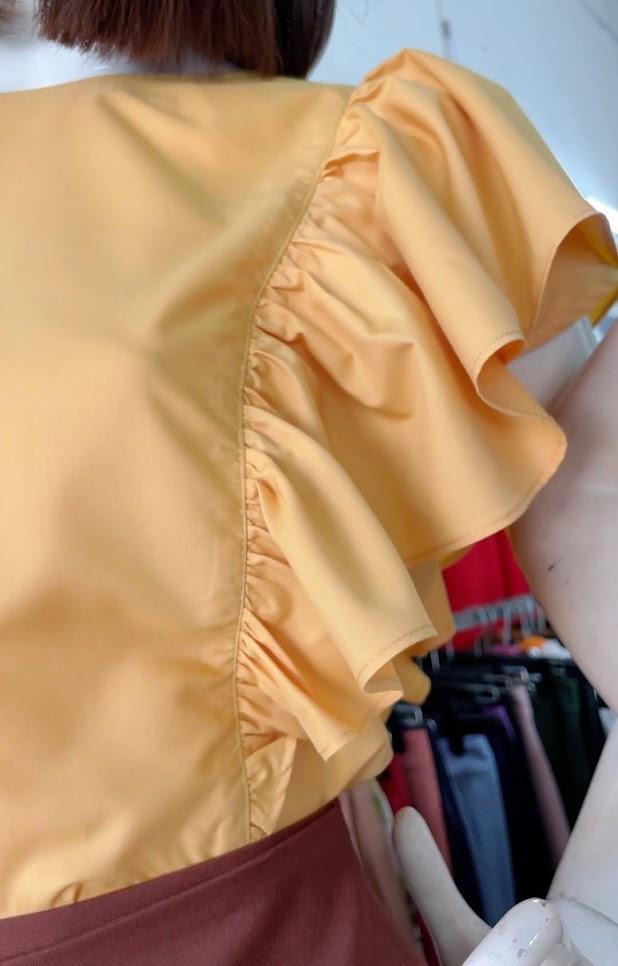 Review chất vải áo sơ mi nữ chân váy xòe công sở và dạo phố V761 thời trang thủy hải phòng 3