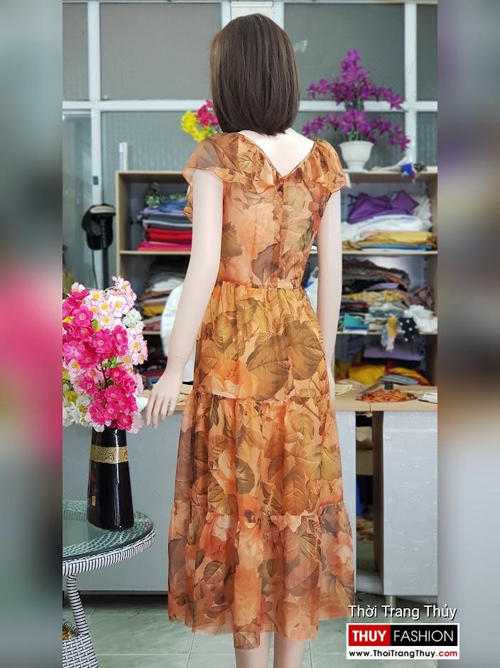 Váy đầm xòe mặc dự tiệc đi biển cổ chữ V717 thời trang thủy hải phòng 2