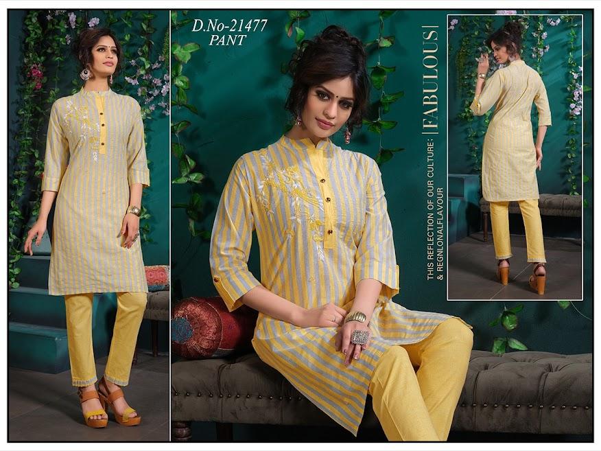 Simran Design No 21477 Kurtis Pant Set Catalog Lowest Price