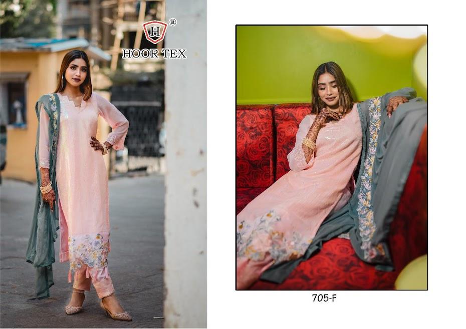 Hoor Tex Design No 705 F Pakistani Salwar Suits Catalog Lowest Price