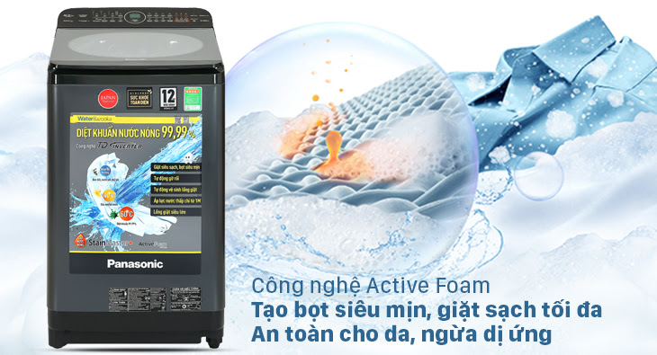 lợi ích của công nghệ Active Foam