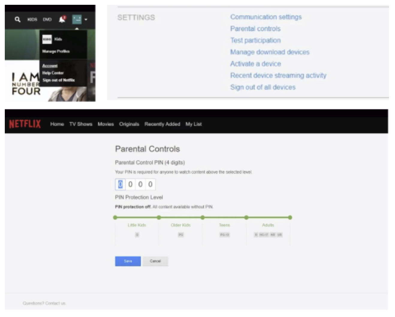 Enable Parental Controls in Netflix