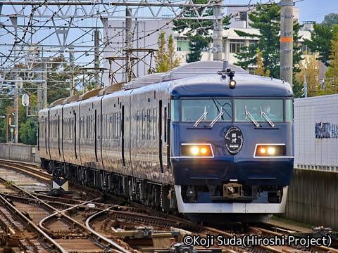 JR西日本 117系「WEST EXPRESS 銀河」 出雲市駅にて