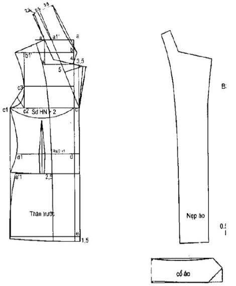 Phương Pháp Thiết Kế Áo Veston Nữ Căn Bản-Bâu Lật Chữ K 5