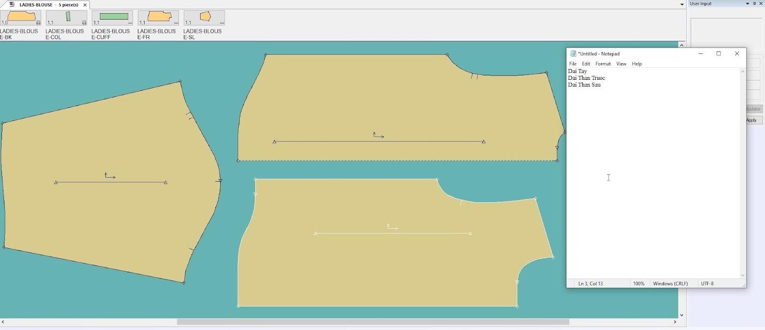 Gerber Pattern Design Point of Measurement: Cách Tạo Bảng Đo Thông Số 1