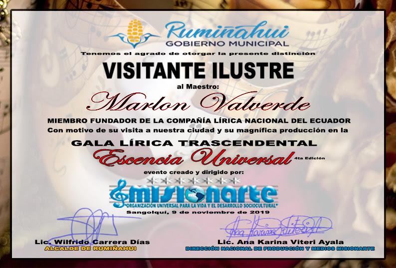 Marlon Valverde Visitante Ilustre