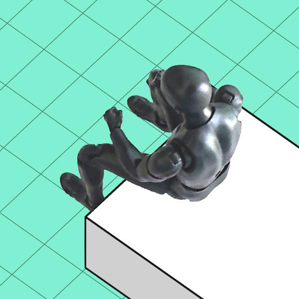 デッサン人形:上からのアングル