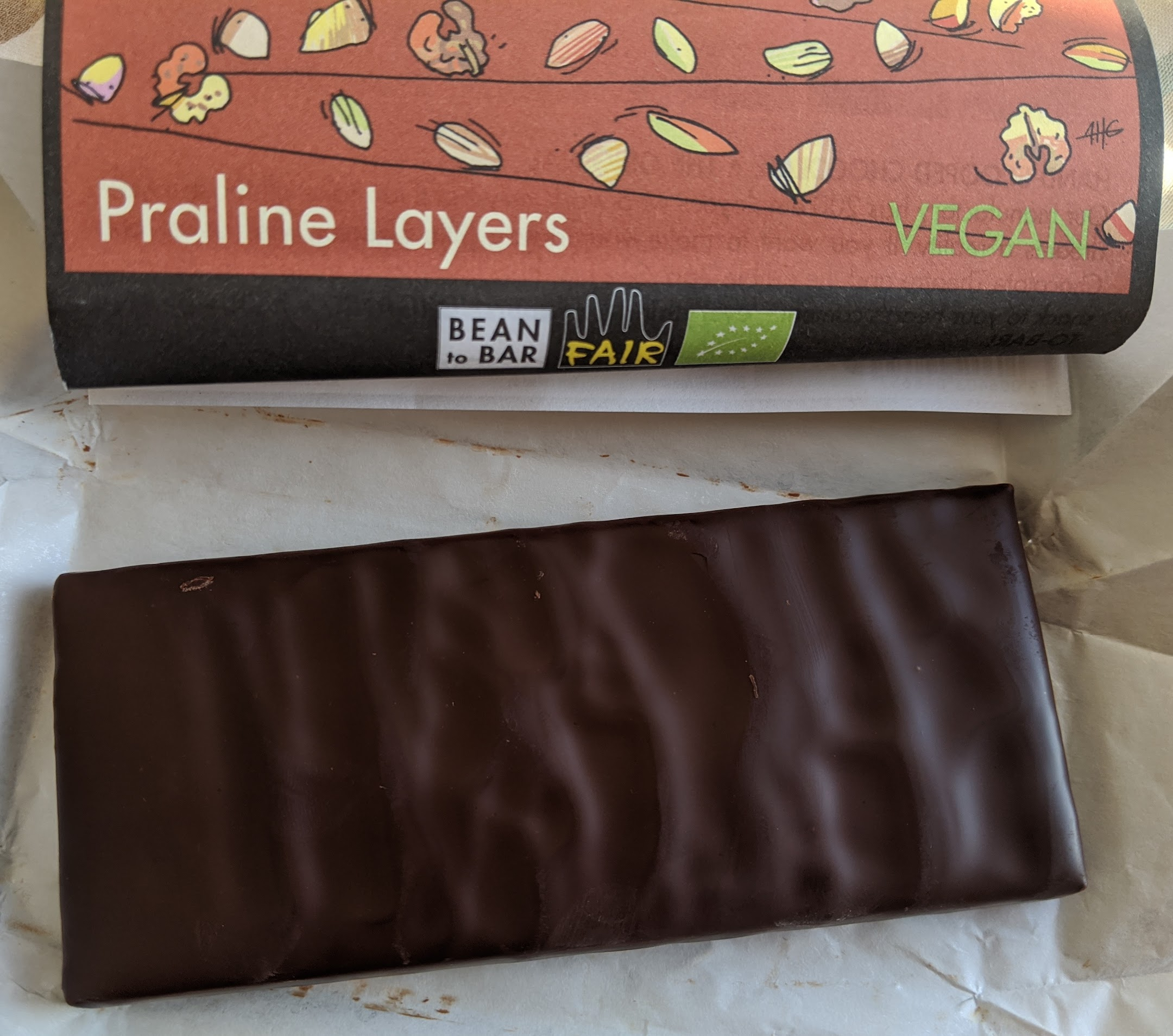 70% zotter praline layers bar