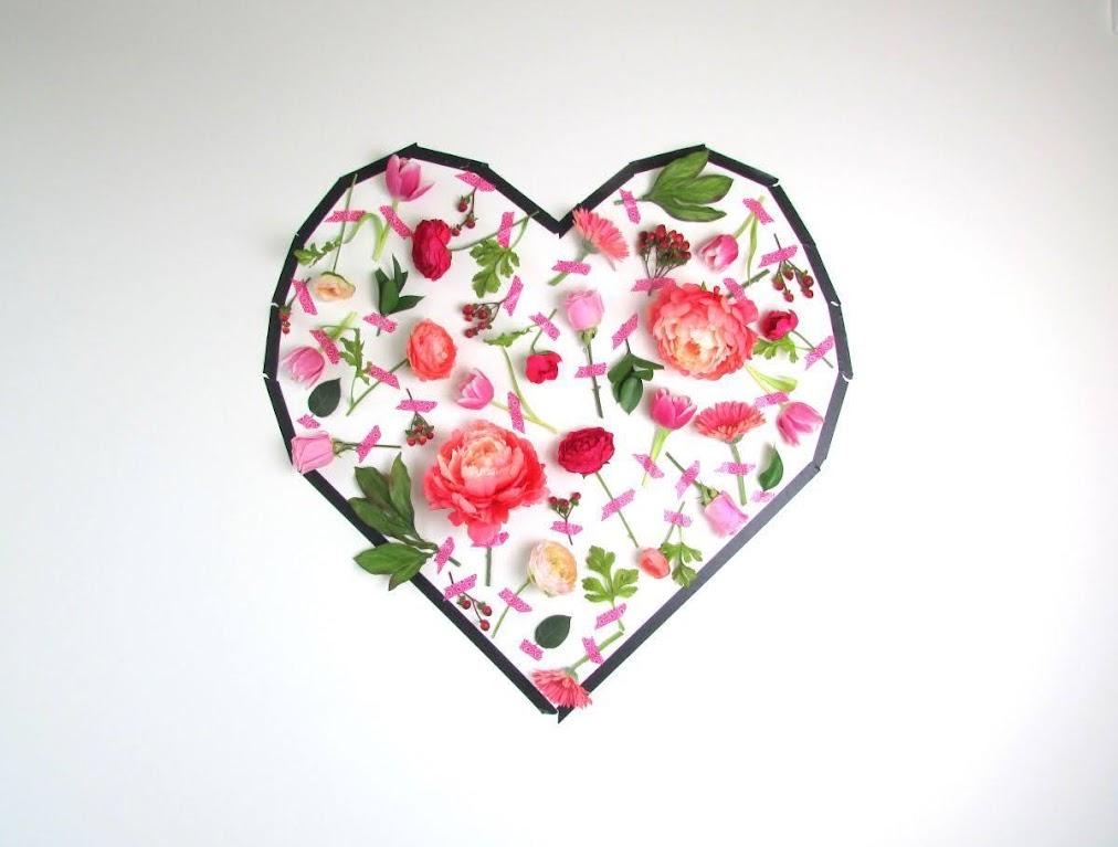 vách hoa hình trái tim