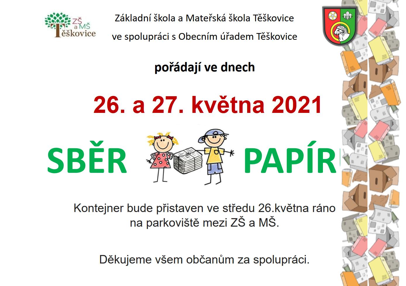 Sběr papíru 2021