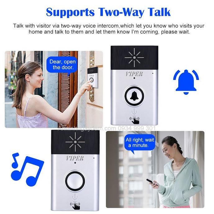Chuông cửa không dây đàm thoại 2 chiều
