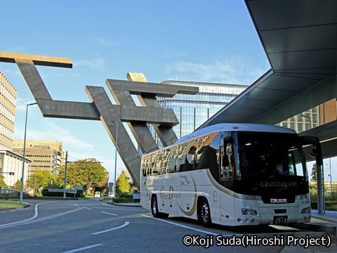 中国JRバス「百万石ドリーム広島号」 641-8969 金沢駅到着