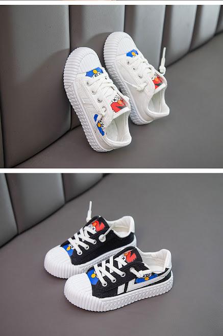 Giày Thể Thao Bé Trai Bé Gái Phim Hoạt Hình Phong Cách Hàn Quốc Trẻ Trung Năng Động Size 26 - 34