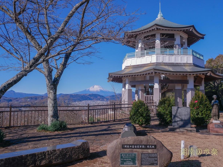 2020.12.31 弘法山公園 展望台 【関東の冨士見百景】
